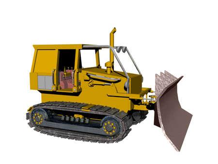 yellow excavator on construction site