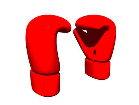 red boxing gloves in the studio