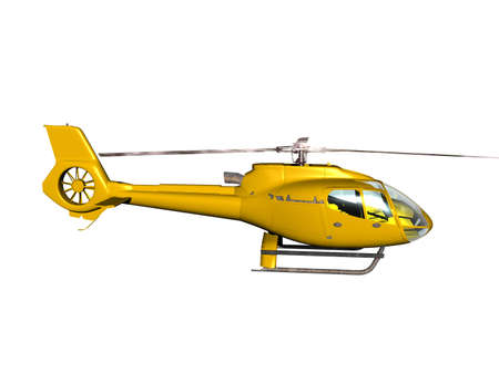 yellow helicopter for rescue flights Standard-Bild
