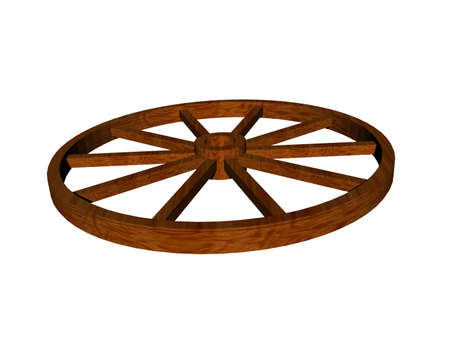wooden wagon wheel for covered wagons