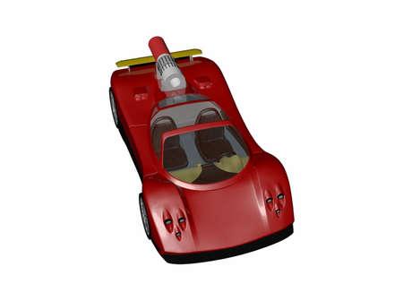 chic, elegant sports car as a convertible