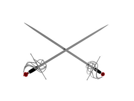 crossed swords as a symbol Stock Photo