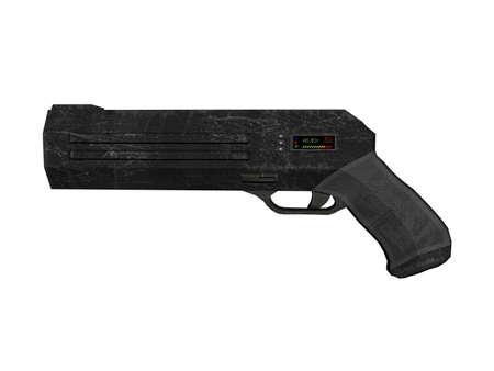 futuristic energy gun to shoot