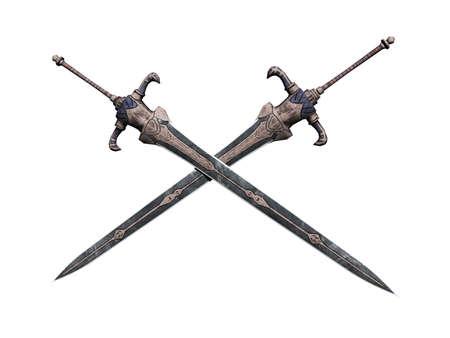 crossed swords as a symbol Foto de archivo