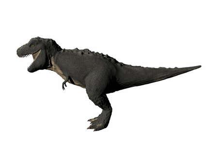 dangerous T-Rex dinosaur with open mouth