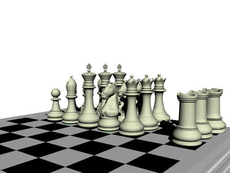 simple chess game with game pieces