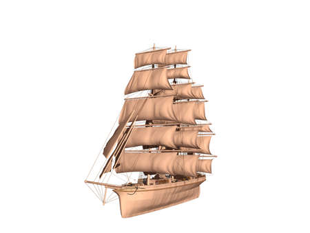large sailing ship as a three-master