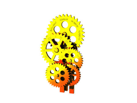 many gears mesh with one another in a clockwork