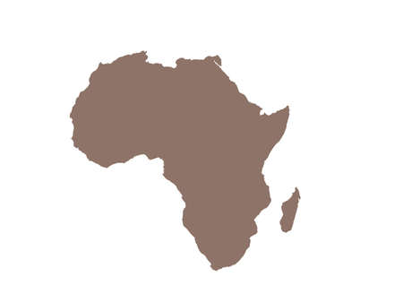African continent with Madagascar as a silhouette