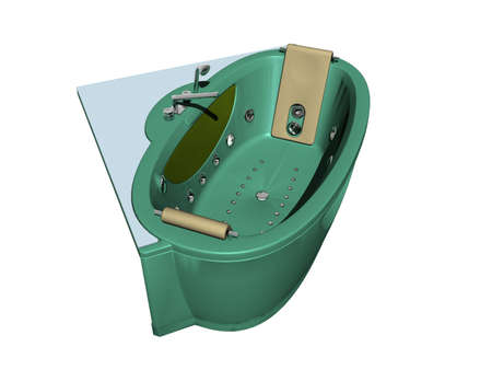 green whirlpool with fittings