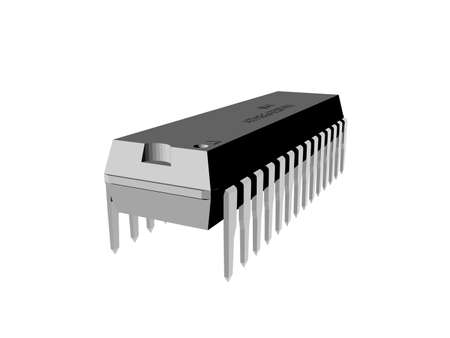 Integrated circuit with metal feet as contacts Zdjęcie Seryjne