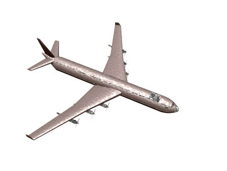 Passenger jet jet engine in the sky Standard-Bild
