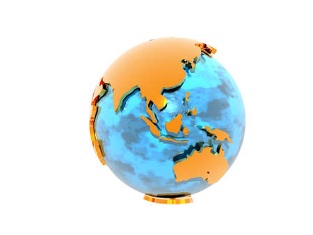 Earth globe with continents and seas 免版税图像