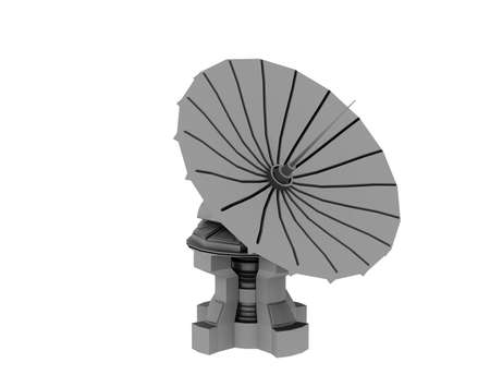 swiveling radio telescope for sky observation and signal processing