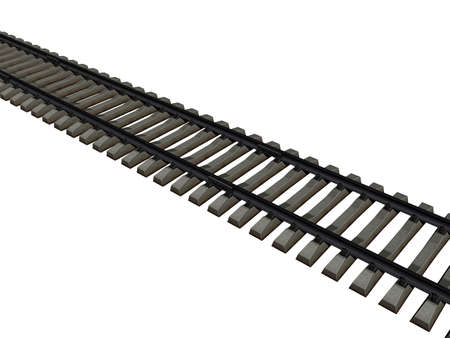 Rail track with sills as a route