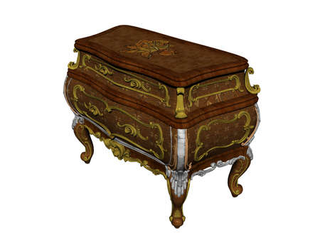 noble wooden chest of drawers with drawers