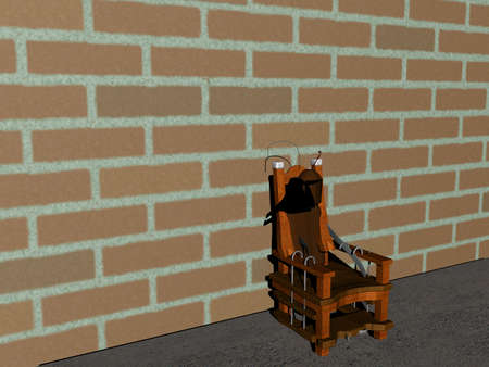 electric chair for execution Banco de Imagens