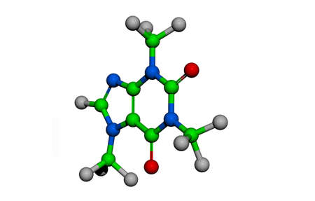 colorful molecular structure of aromatic compounds 写真素材