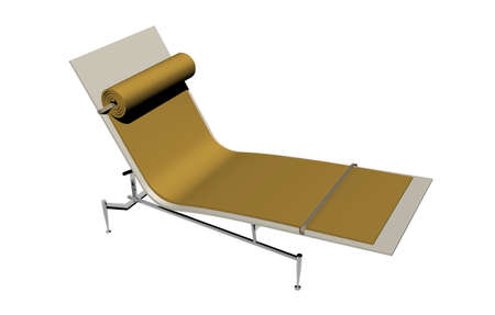 Padded relaxation bed with metal frame