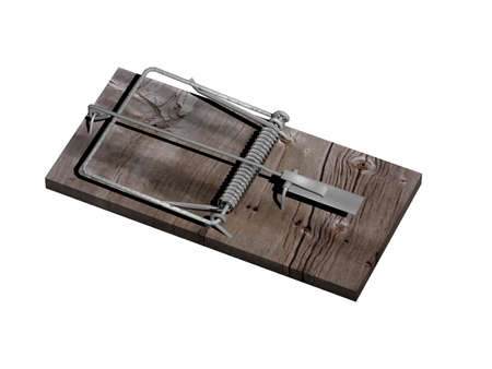 wooden mousetrap with steel striker Reklamní fotografie