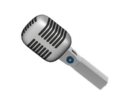 metallic studio microphone with membrane Stock Photo
