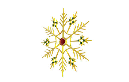 golden snowflake with precious stones