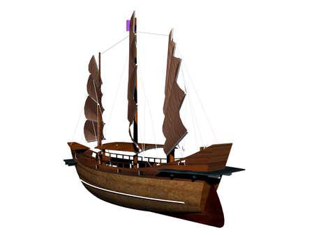 antique sailing ship for the sea trade