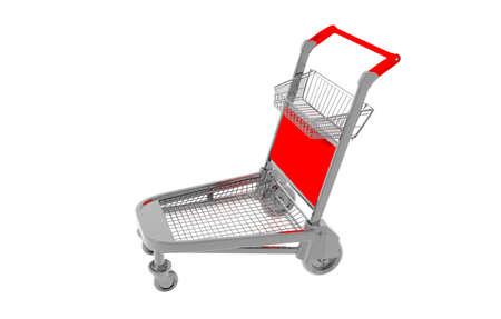 metallic shopping cart with wheels