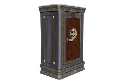 Heavy steel safe for valuables Banque d'images