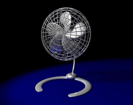 Table fan for refreshment on hot days