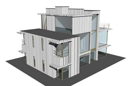 modern house as a villa Banque d'images