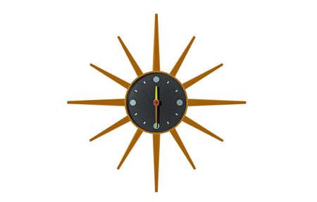 radiant kitchen clock on the wall Stockfoto