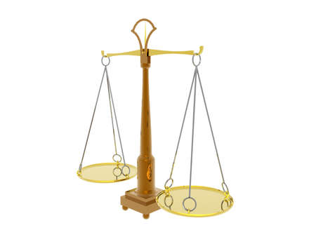 golden scales with scales of justice