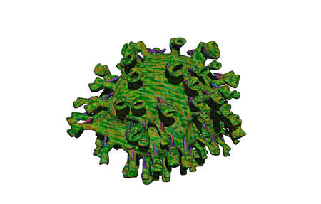 Disease germs with spines and projections