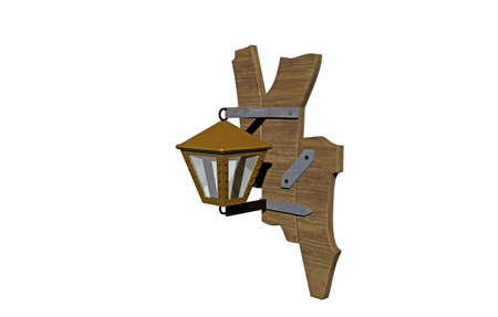 Garden lantern with wall mounting