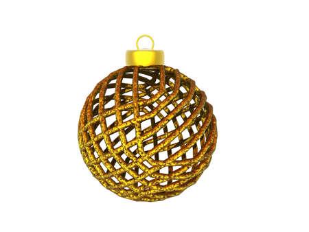 colorful filigree Christmas tree ball