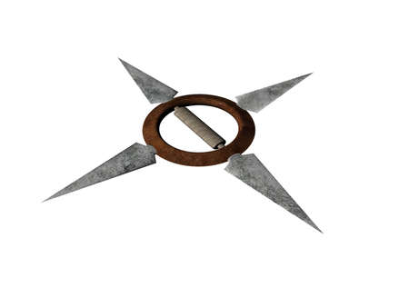 Japanese fighting star with sharp blades