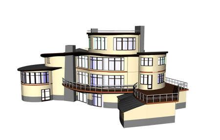 large villa with red roof 版權商用圖片