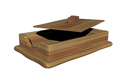 wooden note box on the desk Banque d'images