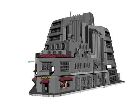 large futuristic building in the future
