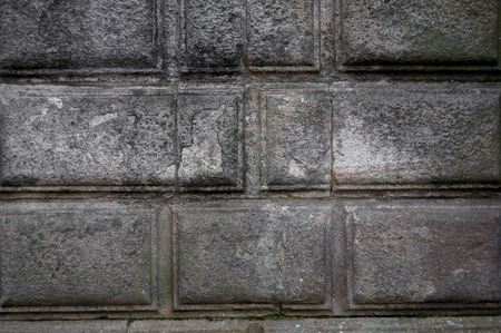 patter: Granite stone patter in wall