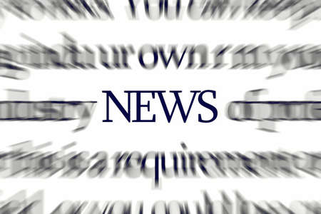 The word NEWS with dynamic blur attracting attention