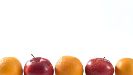 Fruits on white background for text and design 스톡 콘텐츠