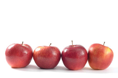 Apples on white background for text and design edit now