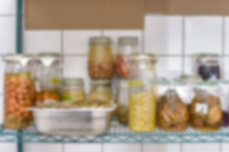 homemade healthy food in glass jar blurred copyspace textspace blog socialmedia 스톡 콘텐츠