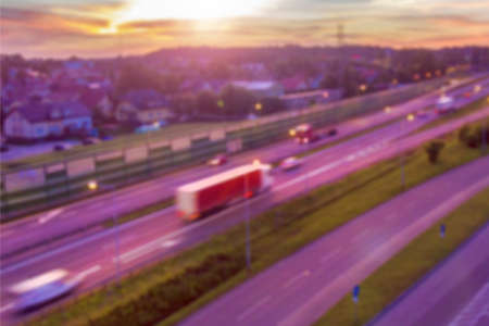 Aerial View of Highway Blurred for background 스톡 콘텐츠