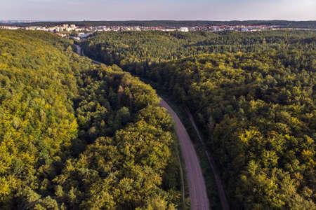 Gdynia, Poland - August 22, 2019: Panorama view of the suburban railway 스톡 콘텐츠