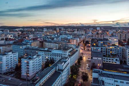 10.09.2019 Gdynia, Poland Drone Aerial View Downtown