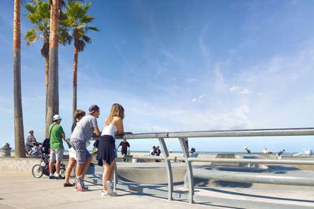 Los Angeles, California 04.10.2016 Venice Beach Skatepark