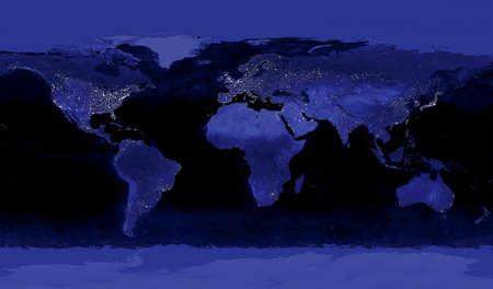 brightest: Le aree pi� chiare della Terra sono i pi� urbanizzata, ma non necessariamente il pi� popolato
